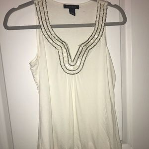 White blouse with metallic detailing